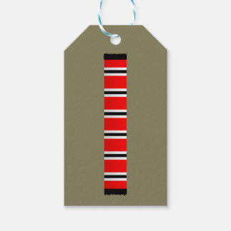 Manchester sporting red white and black bar scarf gift tags