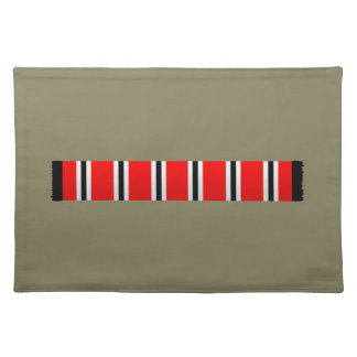 Manchester sporting red white and black bar scarf placemat