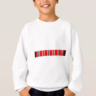Manchester sporting red white and black bar scarf sweatshirt