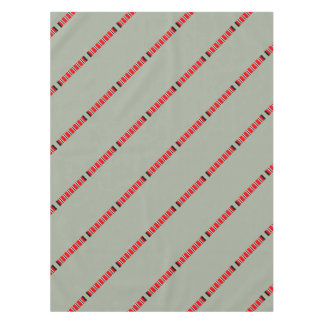 Manchester sporting red white and black bar scarf tablecloth