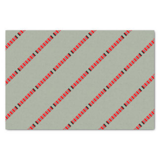 Manchester sporting red white and black bar scarf tissue paper