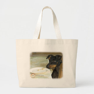 Manchester Terrier 8W07D-10 Large Tote Bag