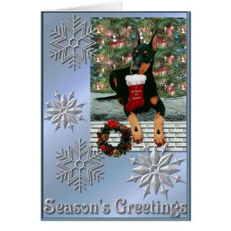 Manchester Terrier Christmas 2004 Card