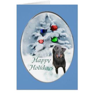 Manchester Terrier Christmas Gifts Card