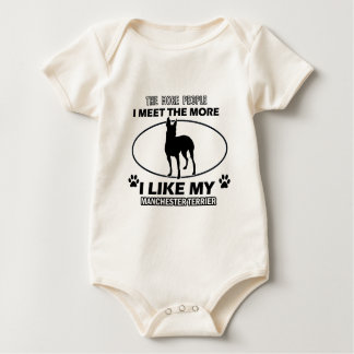 Manchester terrier designs and gifts baby bodysuit