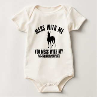 manchester terrier designs baby bodysuit