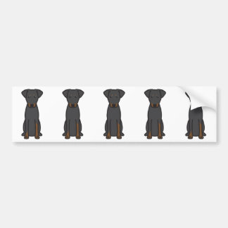 Manchester Terrier Dog Cartoon Bumper Sticker