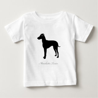 Manchester Terrier silhouette Baby T-Shirt