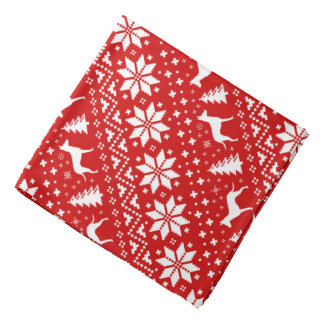 Manchester Terrier Silhouettes Christmas Pattern Bandana