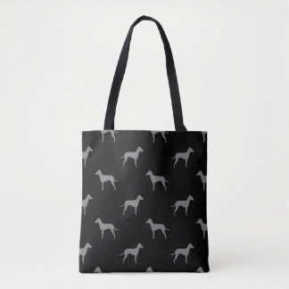 Manchester Terrier Silhouettes - Natural Ears Tote Bag