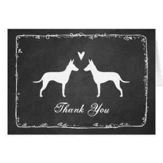 Manchester Terrier Silhouettes Wedding Thank You Card