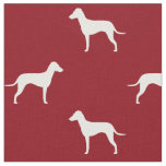 Manchester Terrier Silhouettes with Natural Ears Fabric