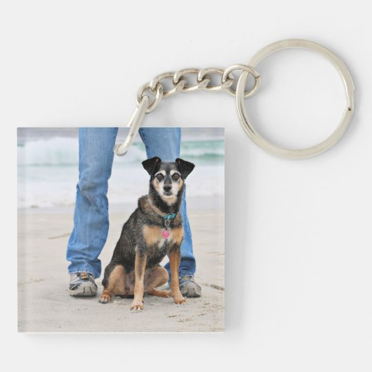 Manchester Terrier X - Jordan - Derr Double-Sided Square Acrylic Keychain