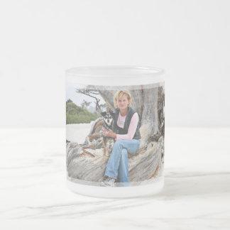 Manchester Terrier X - Jordan - Derr Frosted Glass Coffee Mug
