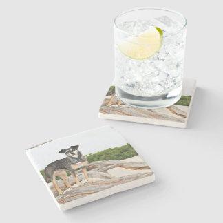 Manchester Terrier X - Jordan - Derr Stone Beverage Coaster