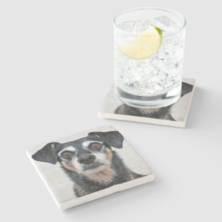 Manchester Terrier X - Jordan - Derr Stone Coaster