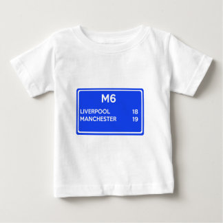 Manchester Versus Liverpool - Football Related Baby T-Shirt