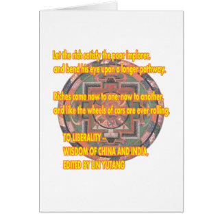 Manda Words To Live By LIBERALITY2 jGibney The MUS Greeting Card
