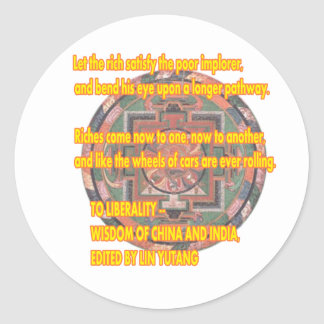 Manda Words To Live By LIBERALITY2 jGibney The MUS Round Sticker