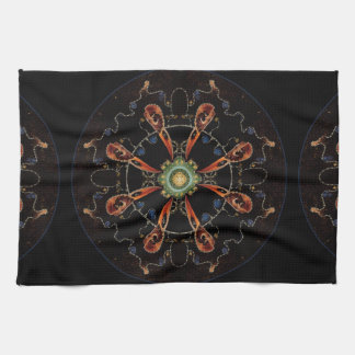 Mandala - 0013 - The Raven and the Sea and Stars P Kitchen Towel
