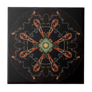 Mandala - 0013 - The Raven and the Sea and Stars P Tile