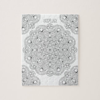 Mandala 010617 Adult Coloring Optional Name Fun Jigsaw Puzzle