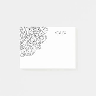 Mandala 010617 Adult Colouring Fun Personalized Post-it Notes