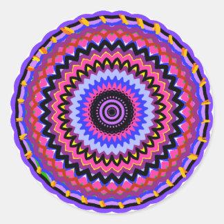Mandala 1 classic round sticker