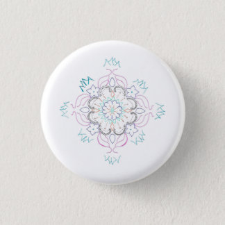Mandala 1 Inch Round Button