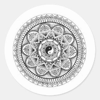 Mandala (3) classic round sticker