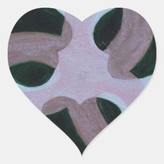 Mandala 503 heart sticker
