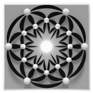 Mandala-abstract-3D Photo Print