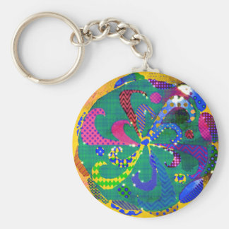 Mandala Abstract Keychain