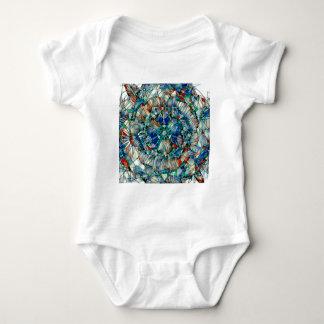 mandala action baby bodysuit