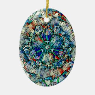 mandala action ceramic ornament