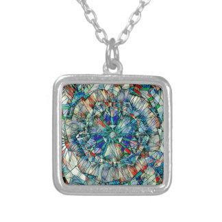 mandala action silver plated necklace