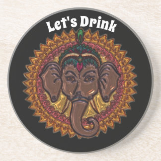 Mandala Adorable Elephant Metallizer Coaster
