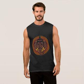Mandala Adorable Elephant Metallizer Sleeveless Shirt