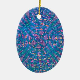 Mandala Aqua Ceramic Ornament