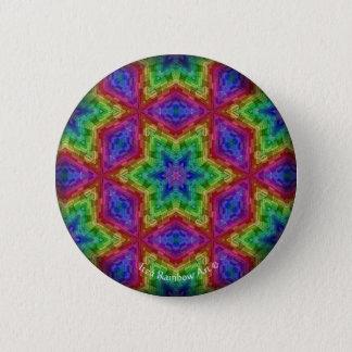 Mandala Art by Itza Rainbow 2 Inch Round Button