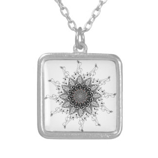 Mandala Art Silver Plated Necklace