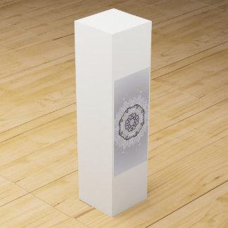 Mandala art wine bottle Box : New in shop
