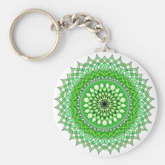 Mandala Basic Round Button Keychain