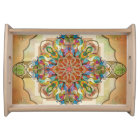 Mandala Birds Serving Tray