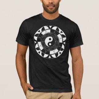 mandala black and white t-shirt -dark