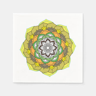 mandala black-and-white vector illustration paper napkin