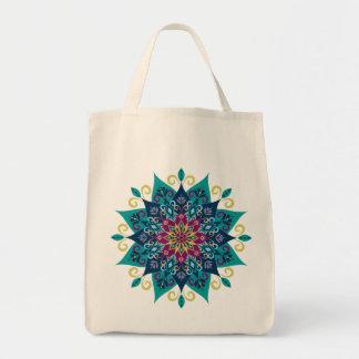 Mandala Bloom-Turquoise & Indigo Blue