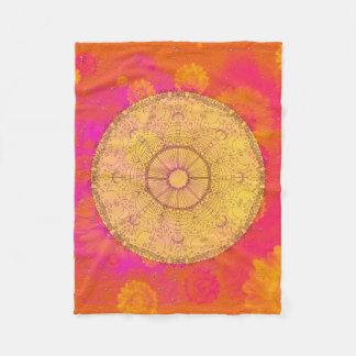 MANDALA ~ Blossoming Summer - Fleece Blanket