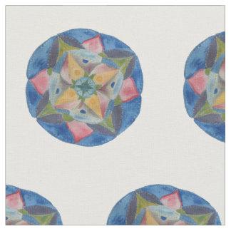 "Mandala Blue Combed Cotton (56"" width) Fabric"