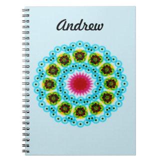 mandala blue flower notebooks
